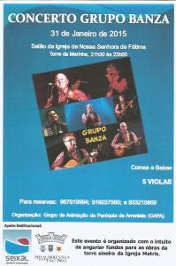Cartaz Concerto dos BANZA 31.01.2015